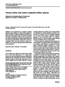 Porous carbon and carbon composite hollow spheres | SpringerLink