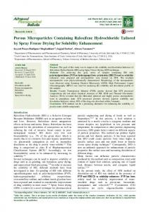 Porous Microparticles Containing Raloxifene Hydrochloride Tailored ...