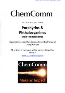 Porphyrin and phthalocyanine glycodendritic ...