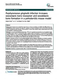Porphyromonas gingivalis infection increases ... - BioMedSearch