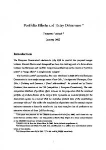 Portfolio Effects and Entry Deterrence - iBrarian