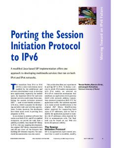 Porting the session initiation protocol to IPv6 - Internet Computing, IEEE