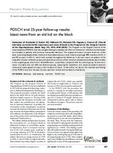 POSCH trial 25-year follow-up results: latest news ...