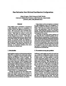 Pose Estimation from Minimal Dual-Receiver Configurations