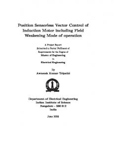 Position Sensorless Vector Control of Induction Motor ...