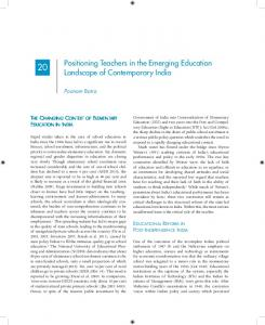 Positioning Teachers in the Emerging Education ... - Teacher Education