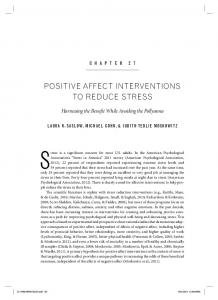 positive affect interventions to reduce stress