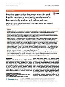 Positive association between musclin and insulin resistance in obesity ...