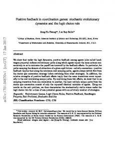 Positive feedback in coordination games: stochastic evolutionary ...