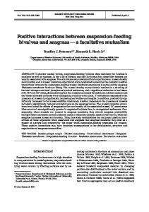 Positive interactions between suspension-feeding bivalves and ...