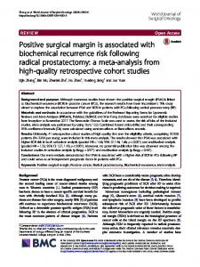Positive surgical margin is associated with biochemical recurrence risk ...