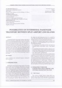POSSIBILITIES OF INTERMODAL PASSENGER TRANSPORT ...