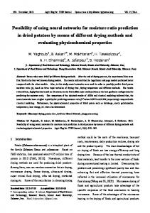 Possibility of using neural networks for moisture ratio prediction in