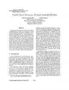Possible Chaotic Motions in a Feedback Controlled 2R Robot ...