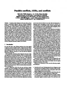 Possible conflicts, ARRs, and conflicts - Semantic Scholar