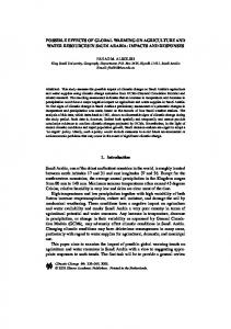 Possible Effects of Global Warming on Agriculture and ... - Springer Link