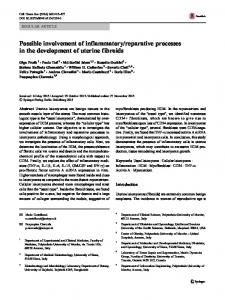 Possible involvement of inflammatory/reparative ... - Springer Link
