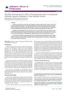 Possible Neuroprotective Role of Pomegranate Juice in Aluminum