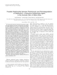 Possible Relationship between Phototoxicity and Photodegradation of ...