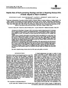Possible Role of Pectin-containing Mucilage and ... - Semantic Scholar