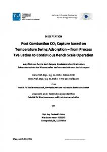 Post Combustion CO2 Capture based on