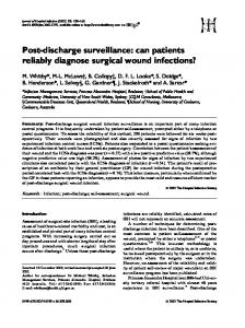 Post-discharge surveillance: can patients reliably ... - Science Direct
