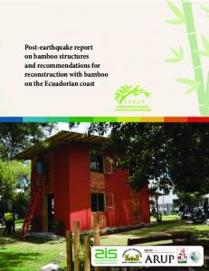 Post-earthquake report on bamboo structures and