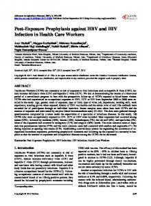 Post-Exposure Prophylaxis against HBV and HIV Infection in Health ...
