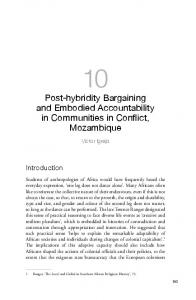 Post-hybridity Bargaining and Embodied Accountability in ... - ANU Press
