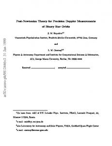Post-Newtonian Theory for Precision Doppler Measurements of Binary