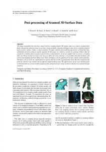 Post-processing of Scanned 3D Surface Data - LGG, EPFL