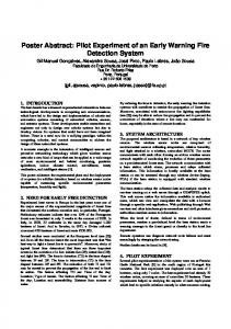 Poster Abstract: Pilot Experiment of an Early Warning Fire Detection ...