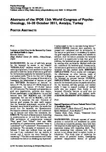 Poster Abstracts