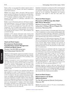 POSTERS Head and Neck Surgery Percutaneous ...