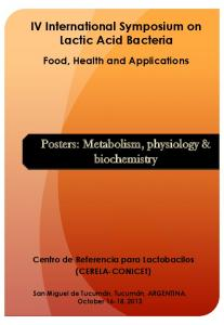 Posters: Metabolism, physiology & biochemistry - Centro de ...