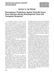 Postexposure Prophylaxis Against Varicella Zoster Virus Infection ...
