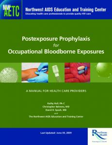 Postexposure Prophylaxis Occupational Bloodborne Exposures