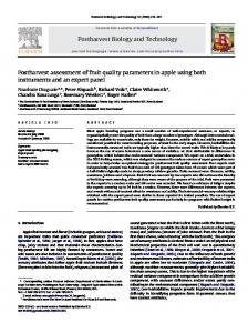 Postharvest assessment of fruit quality parameters in apple using ...