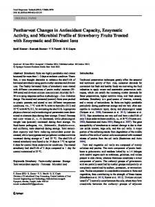 Postharvest Changes in Antioxidant Capacity ... - Springer Link