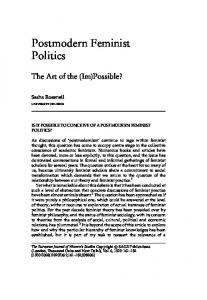 Postmodern Feminist Politics - SAGE Journals - Sage Publications