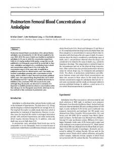 Postmortem Femoral Blood Concentrations of Amlodipine
