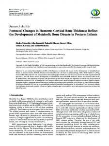 Postnatal Changes in Humerus Cortical Bone Thickness Reflect the ...