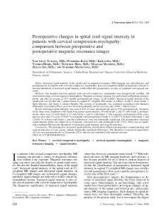 Postoperative changes in spinal cord signal intensity in patients with