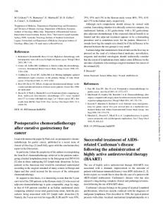 Postoperative chemoradiotherapy after curative ...