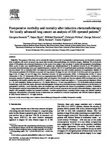 Postoperative morbidity and mortality after