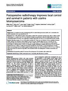 Postoperative radiotherapy improves local control ... - BioMedSearch