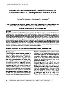 Postoperative Survival in Gastric Cancer Patients and its ... - CiteSeerX