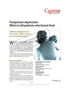 Postpartum depression: What to tell patients who