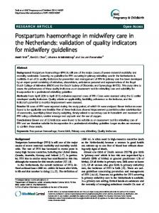 Postpartum haemorrhage in midwifery care in the Netherlands - Core