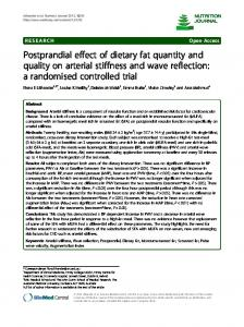 Postprandial effect of dietary fat quantity and quality on arterial ...